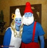 Papa Smurf and Smurfette