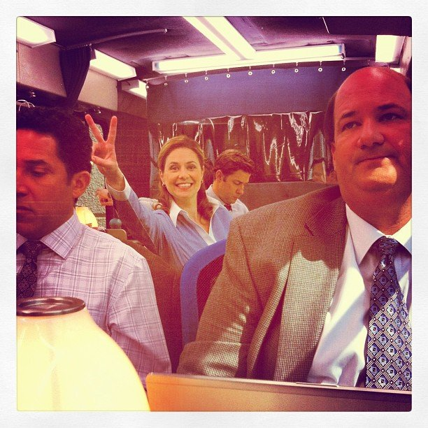 Jenna Fischer photo-bombed a picture. Source: Instagram user angekinz
