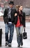 Jessica Biel held onto Justin Timberlake during a March 2009 outing in NYC.