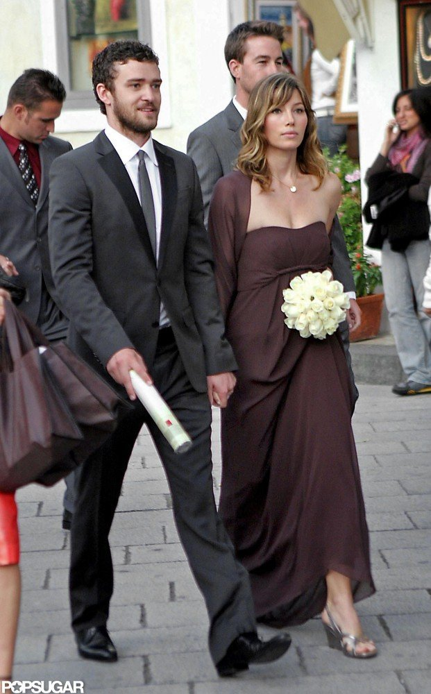 Jessica Biel was a bridesmaid in a friend's Italian wedding in October 2008, and Justin Timberlake was by her side as a guest.