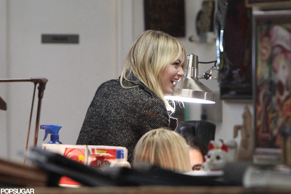 Emma Stone went to a tattoo shop in LA.