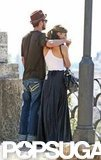 Justin Timberlake and Jessica Biel admired the view while touring Rome in September 2008.