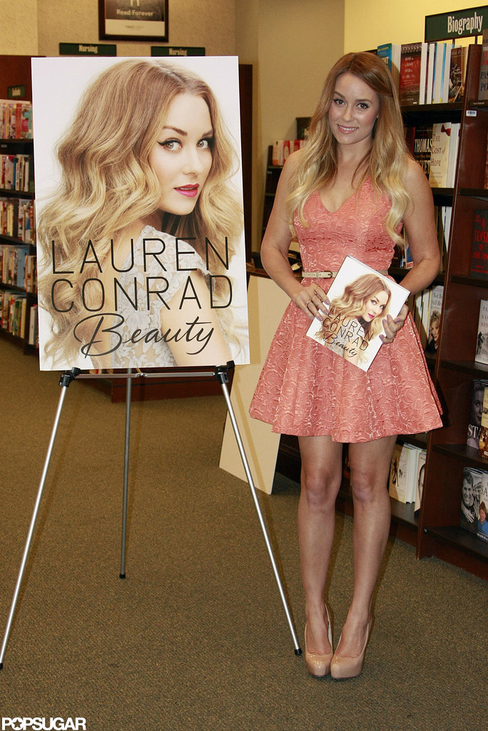 Lauren Conrad posed with her book at Barnes & Noble.