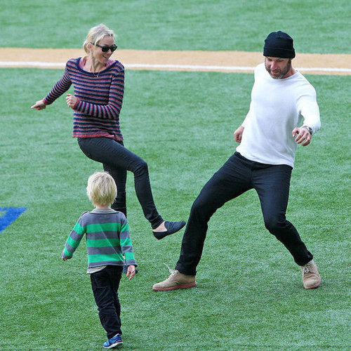 Naomi Watts and Liev Schreiber Play Soccer | Pictures