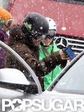 Justin Timberlake and Jessica Biel hit the slopes in Switzerland in February 2010.