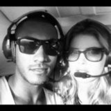 Doutzen Kroes and her husband Sunnery James were ready to fly high in a helicopter. Source: Instagram user doutzenkroes1