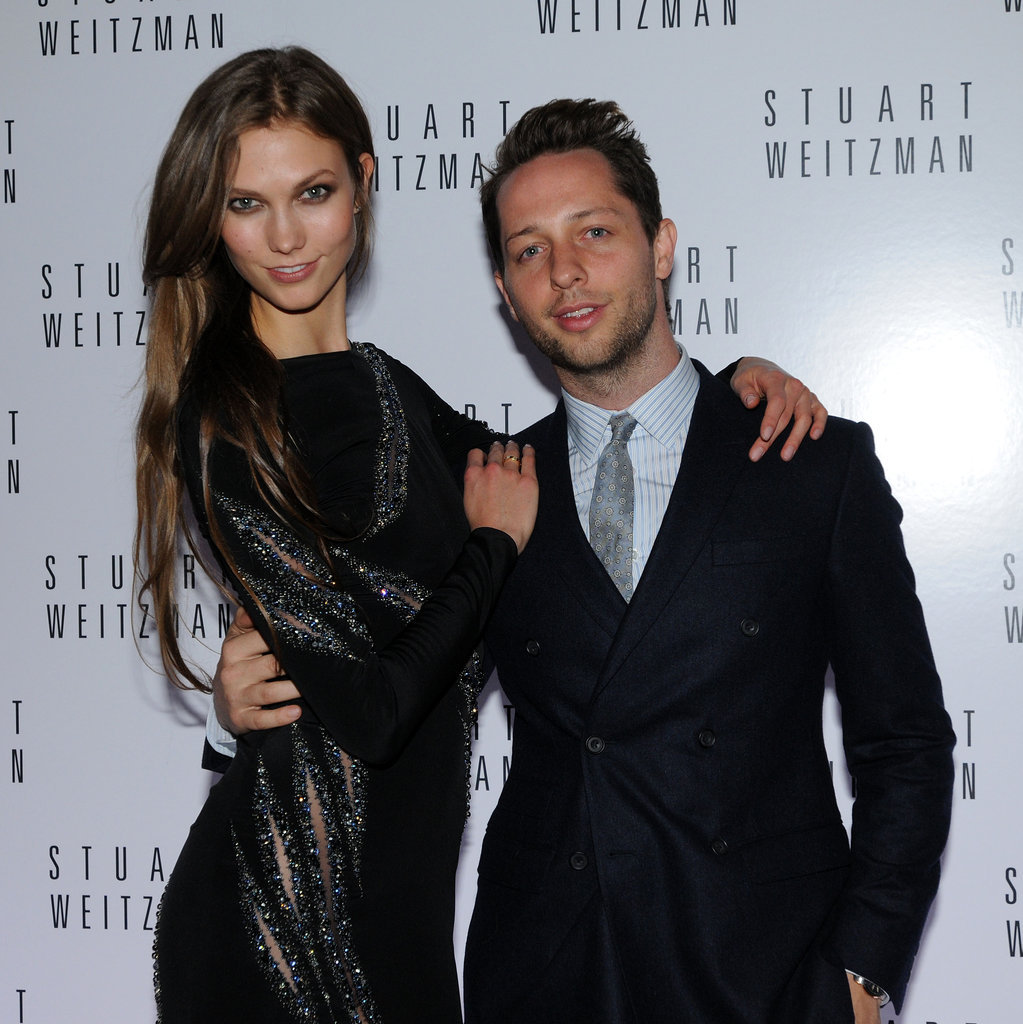 Karlie Kloss and Derek Blasberg posed for the camera.