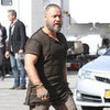 Russell Crowe in Character as Noah on Movie Set After Danielle Spencer Split News