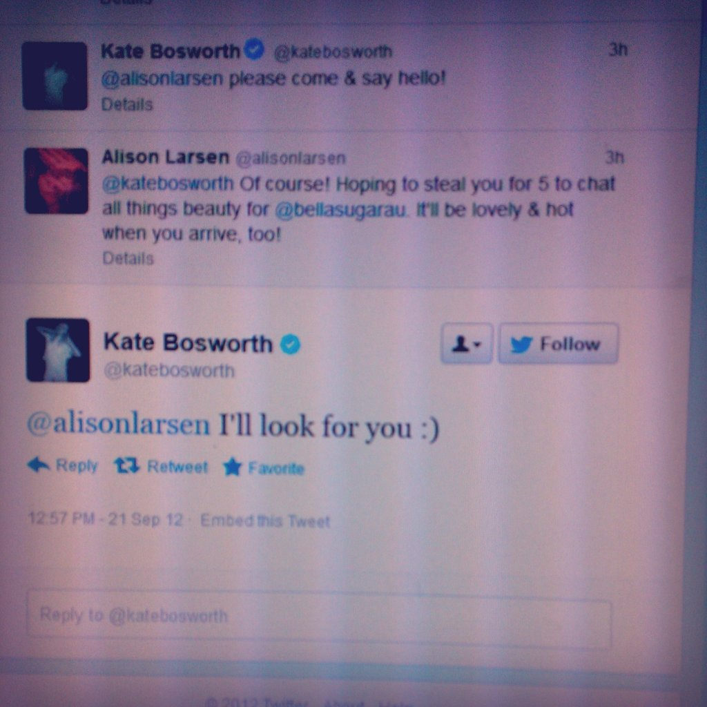 Alison has this Tweet exchange framed. Seriously.