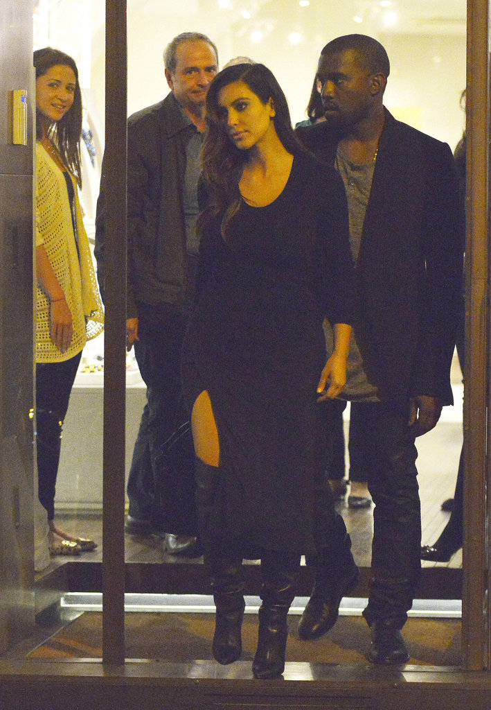 Kim Kardashian and Kanye West kept close in Rome.