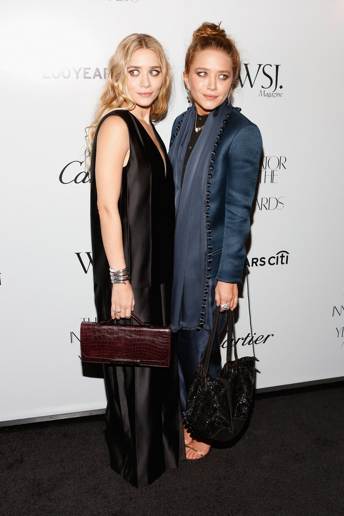 Ashley Olsen wore a black dress at the awards in NYC.