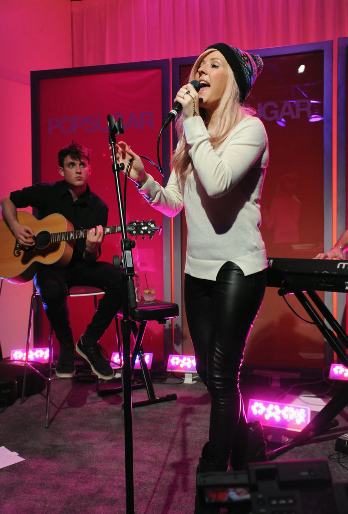 Ellie Goulding welcomed guests to PopSugar LA's new studios.