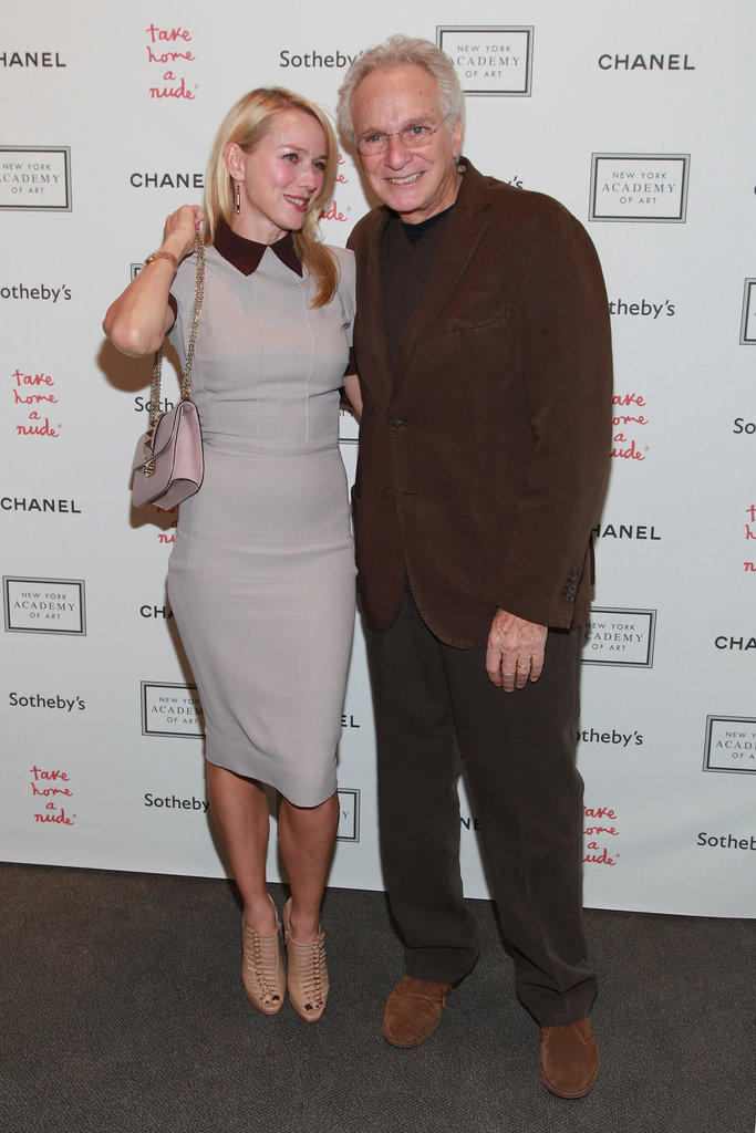 Naomi Watts posed with designer David Yurman at the Take Home a Nude art auction in NYC.