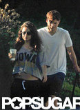 Mila Kunis and Ashton Kutcher took a walk around LA together.