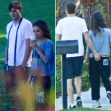 Mila Shows Off Her Abs For a PDA-Filled Walk With Ashton in LA