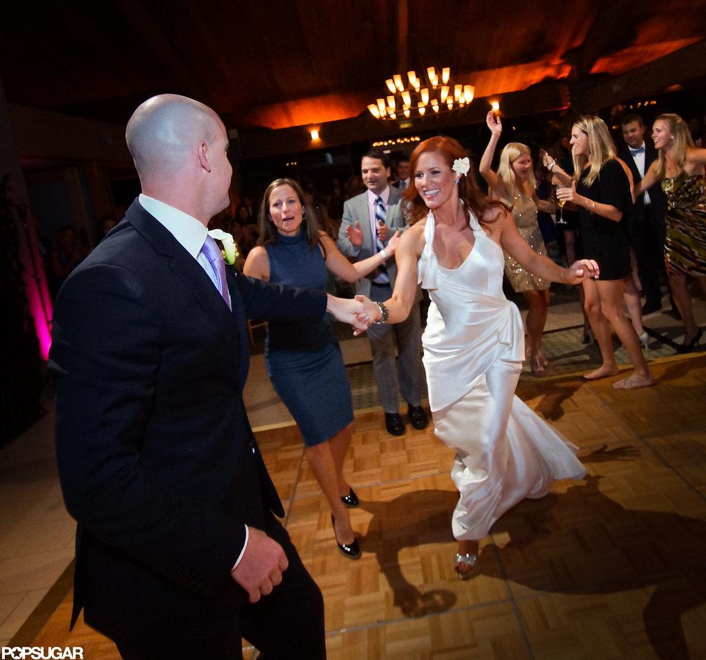 Elisa Donovan and Charlie Bigelow celebrate their wedding.  Photos courtesy Scott Robert