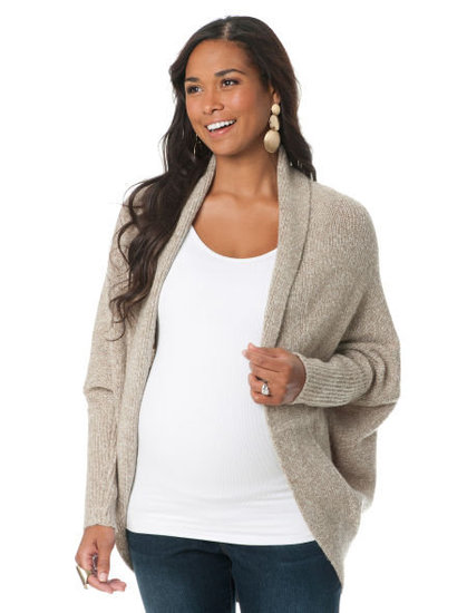 This dolman-sleeved maternity cardigan ($20, originally $45) from Loved by Heidi Klum is seriously stylish and keeps the chill away. Made from an acrylic blend, the sweater is machine washable and can be worn with jeans for a casual look or dressed up with a pair of black leggings and boots.