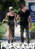 Miley Cyrus and Liam Hemsworth showed PDA.