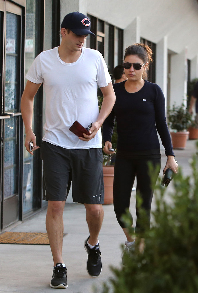 Ashton Kutcher and Mila Kunis went to a spa together.