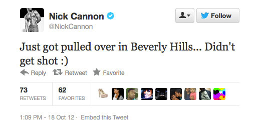 Nick Cannon. Living on the edge.