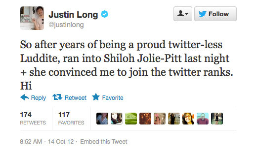 Welcome to the Twittersphere, Justin!