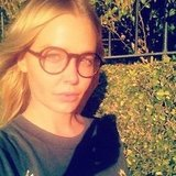 Lara Bingle does her best Harry Potter in a wicked pair of round spectacles. Source: Instagram user mslbingle