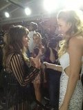Lea Michele and Whitney Port caught up backstage at a L'Oreal Paris event. Source: Twitter user LOrealParisUSA