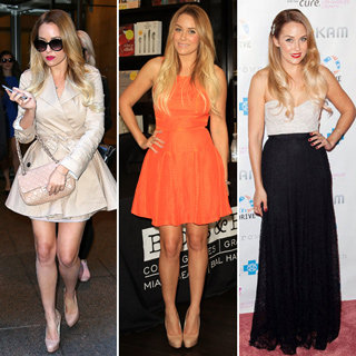 Lauren Conrad's Book Tour Style: Cute Dresses, Sexy Trench Coat, Maxi Dress, Jeans