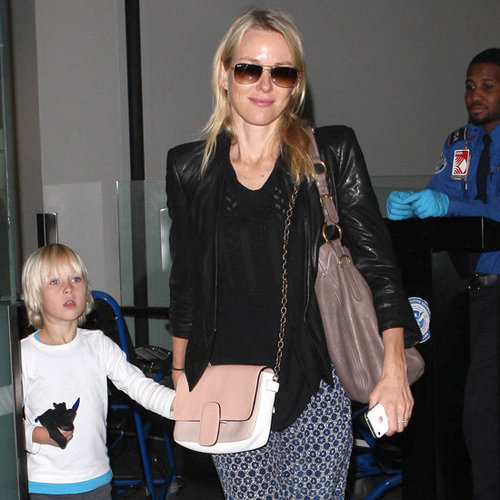 Naomi Watts Wearing Printed Pants