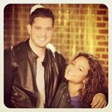 Michael Bublé gave The Voice fans a peek behind the scenes with Christina Milian. Source: Instagram user michaelbuble