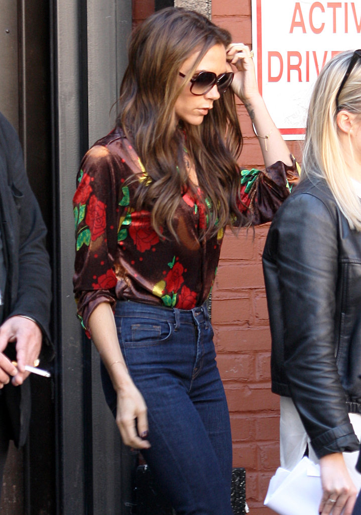 Victoria Beckham Does NYC Dressed Down in Denim
