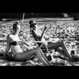 Candice Swanepoel relaxed on the beach in Brazil. Source: Instagram user angelcandices