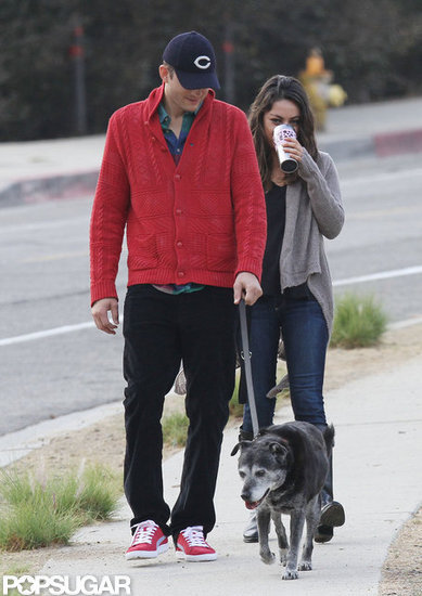 Ashton Kutcher and Mila Kunis spent some time together in LA.