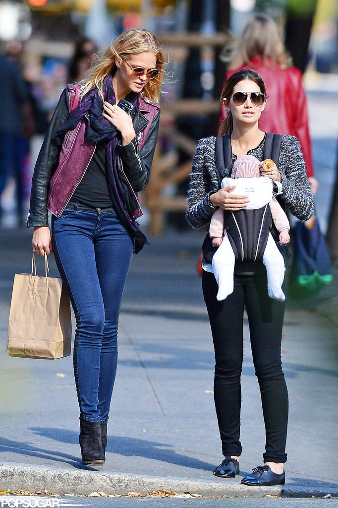 Lily Aldridge and Erin Heatherton went shopping in NYC.