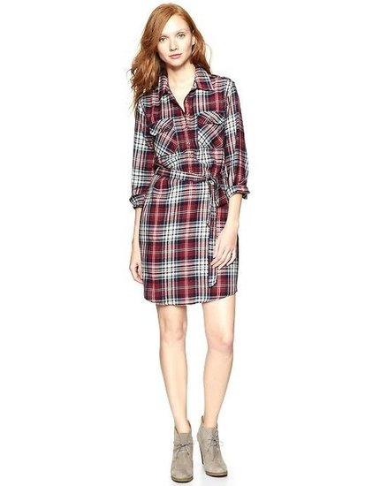 This Gap Plaid Flannel Shirtdress ($60) would be an easy outfit solution — just style this with your favorite boots and tights and you're out the door.