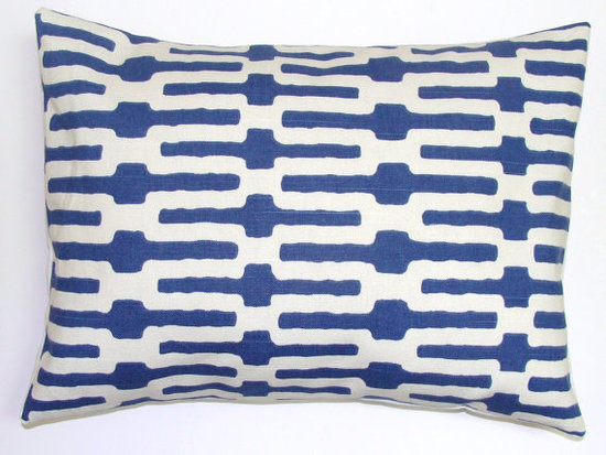 Add a pop of blue in your room with a Decorator Lumbar Pillow  ($19).