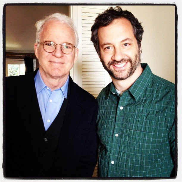 Comedy behemoths Steve Martin and Judd Apatow converged. Source: Twitter user SteveMartinToGo