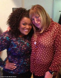 Community's Yvette Nicole Brown met one of her idols, Penny Marshall. Source: Yvette Nicole Brown on WhoSay