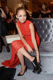 Nicole Richie slipped on a shoe during the event.