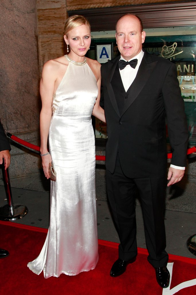 Princess Charlene wore a white gown to the Princess Grace Awards gala in New York City.