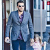 Ben Affleck With Seraphina at the Brentwood Country Mart