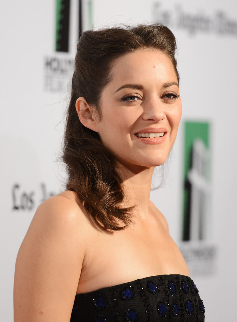 Marion Cotillard attended the Hollywood Film Awards gala in Los Angeles.