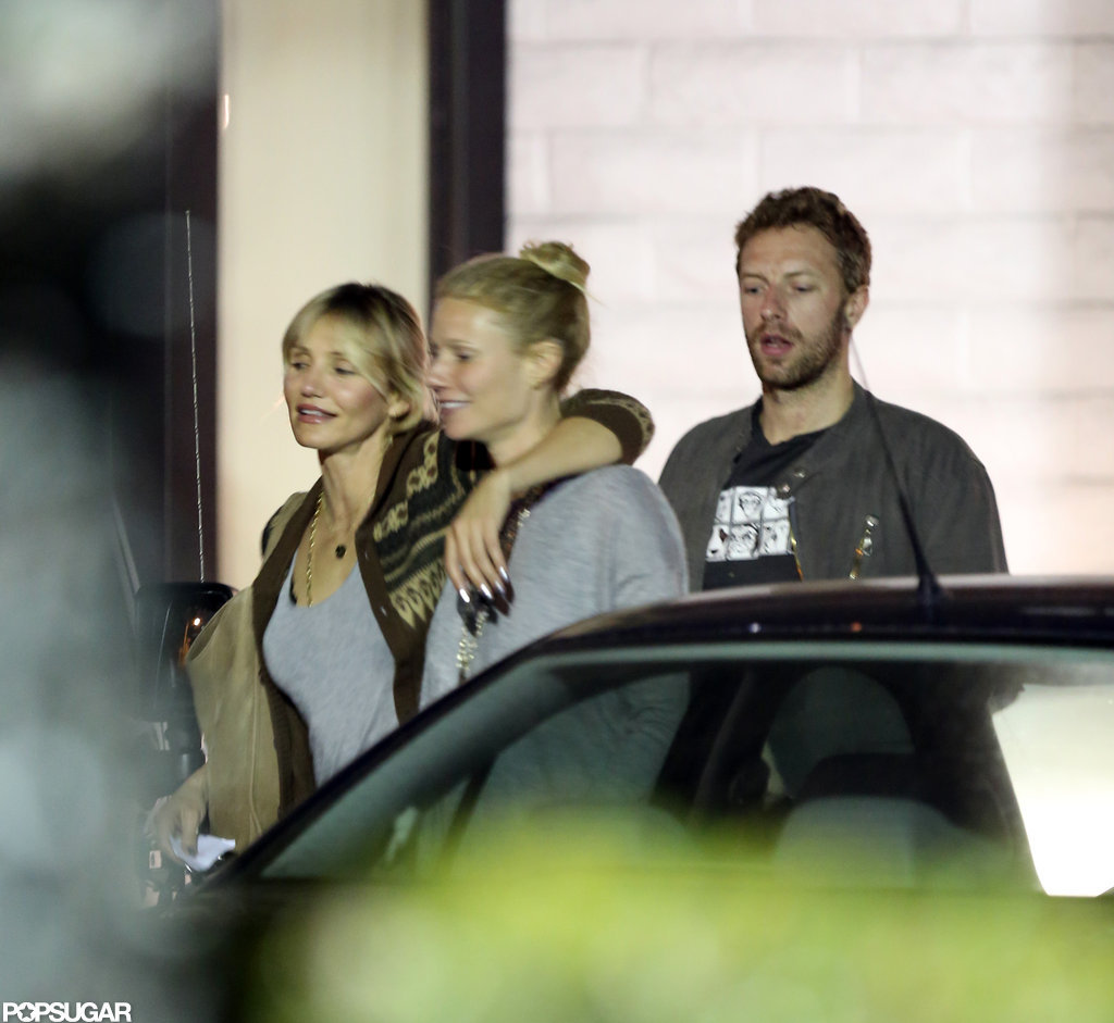 Cameron Diaz went out to dinner in LA with Gwyneth Paltrow and Chris Martin.
