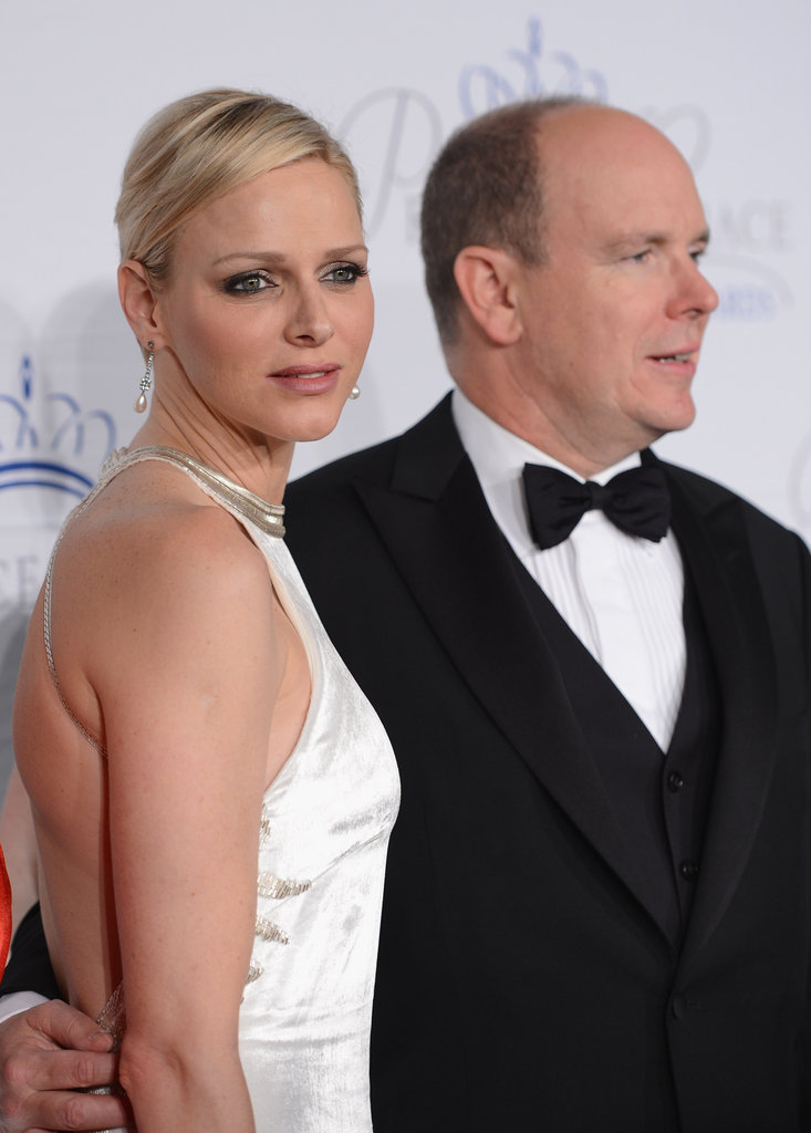 Princess Charlene and Prince Albert II of Monaco posed for photos at the Princess Grace Awards gala in New York City.