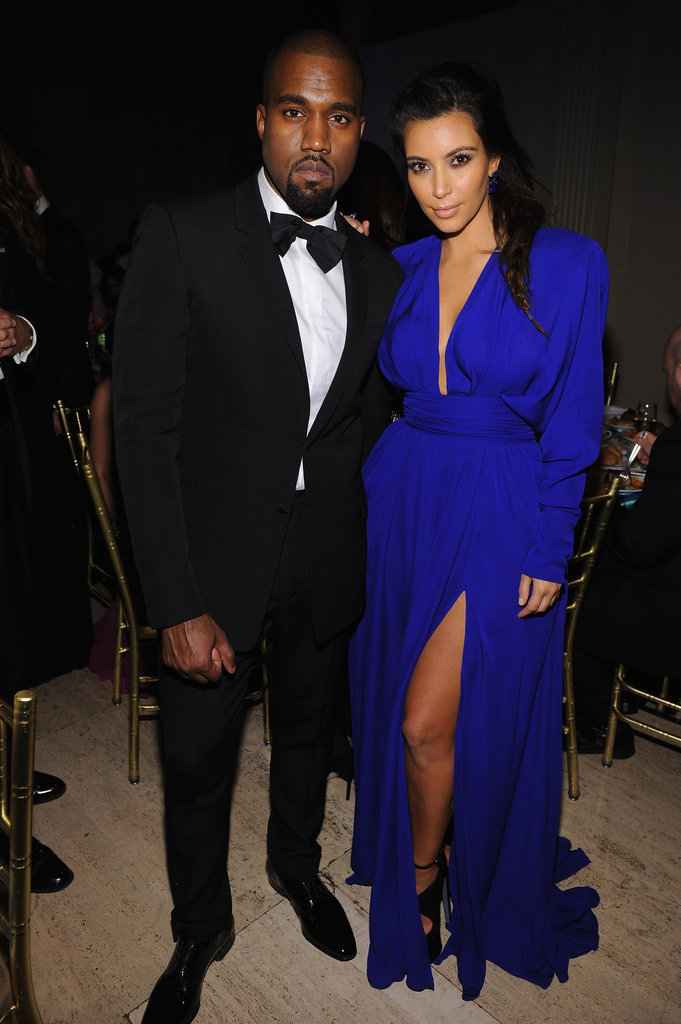Kim Kardashian and Kanye West attended the Angel Ball.
