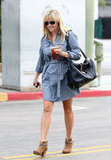 Reese Witherspoon Makes a Smiley and Stylish Lunch Run With Ava