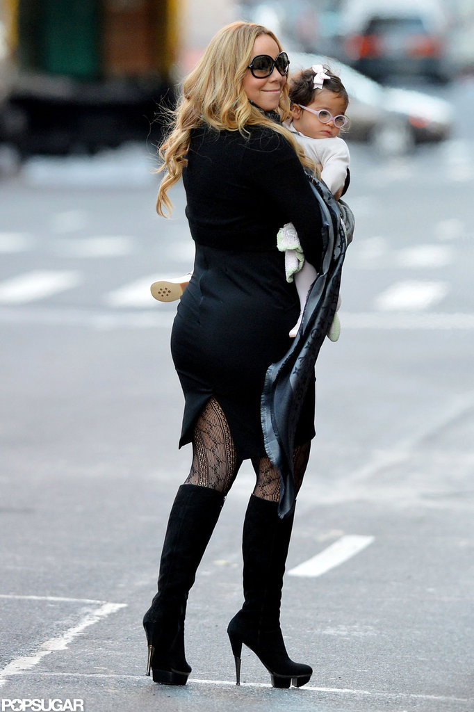 Mariah Carey and Monroe Cannon spent a day in NYC.