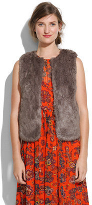 We love the subtle slate-gray hue of Madewell's Faux-Fur Vest ($118).