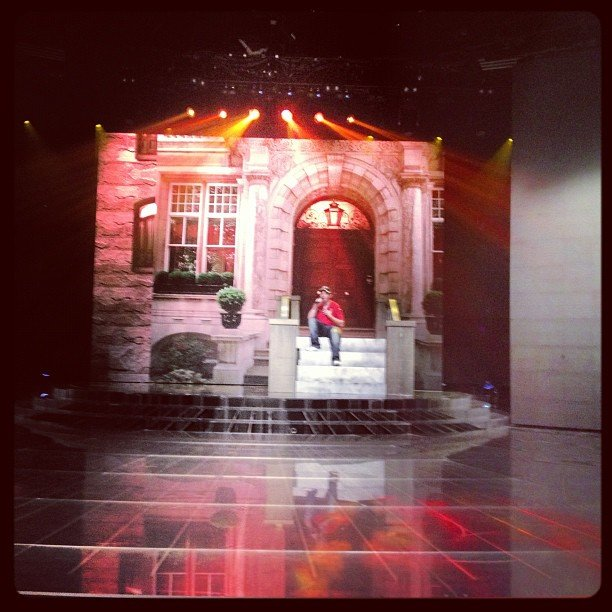 "Mel B photographed her charge Jason Owen rehearsing ""You Belong With Me."" Source: Instagram user officialmelb"