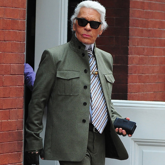 Breaking: Karl Lagerfeld Is Not Wearing Black